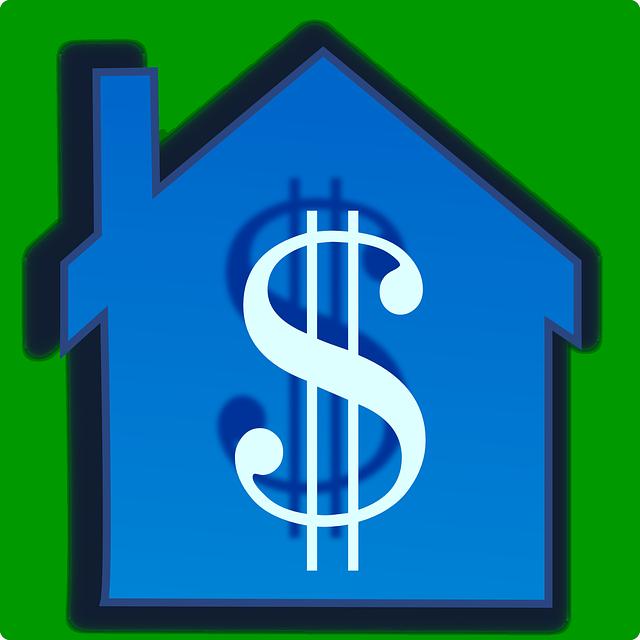 znak dolaru v domě