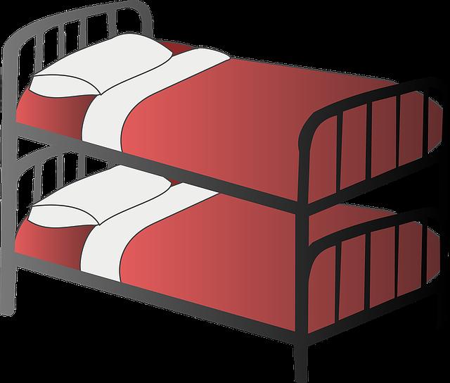 postele