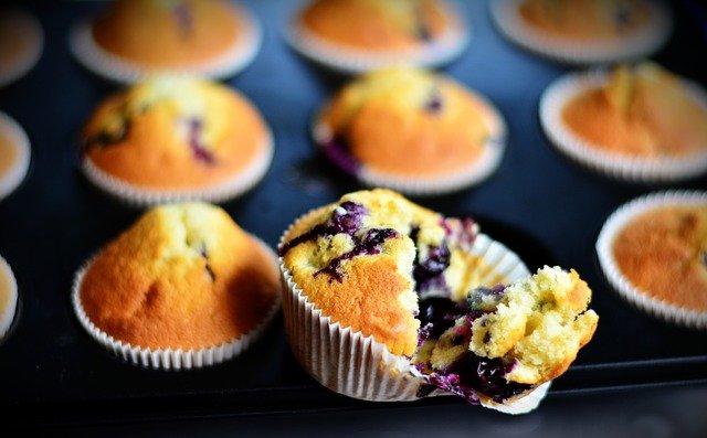borůvkový muffin)
